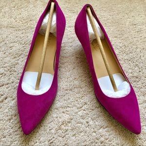 Talbots Pink Suede Kitten Heels